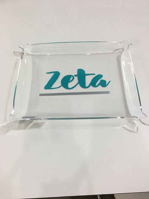 Zeta Acrylic Pinch Tray