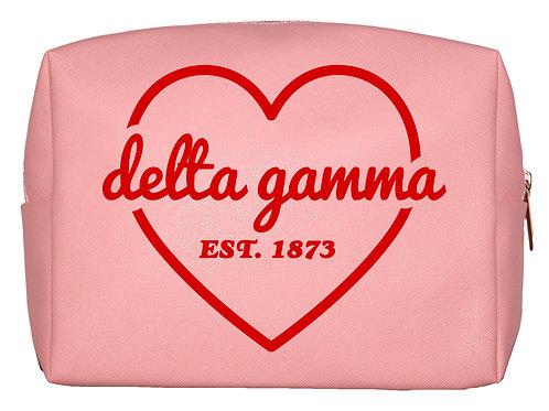 Delta Gamma Sweetheart Makeup Bag