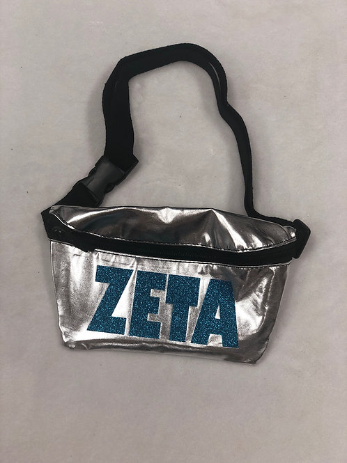 Zeta Tau Alpha Metallic Fanny Pack