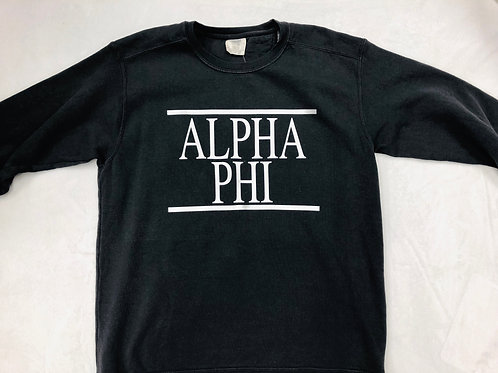 Alpha Phi Comfort Colors Sweatshirt