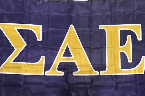 Sigma Alpha Epsilon Fraternity Flag