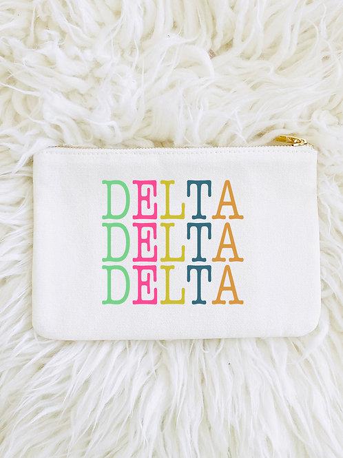 Delta Delta Delta Color Block Makeup Bags