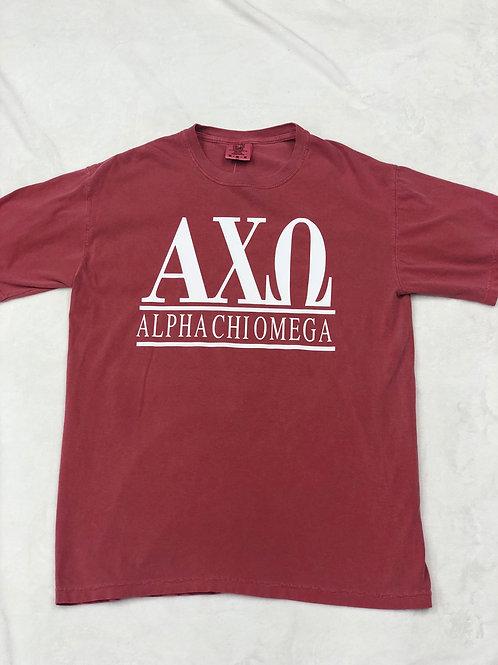 Alpha Chi Omega Comfort Colors Short Sleeve Tee