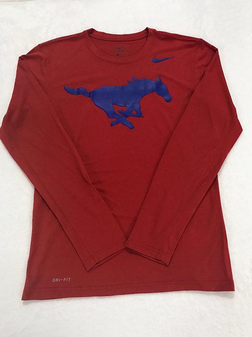 SMU Nike Dri Fit Red Long Sleeve Shirt