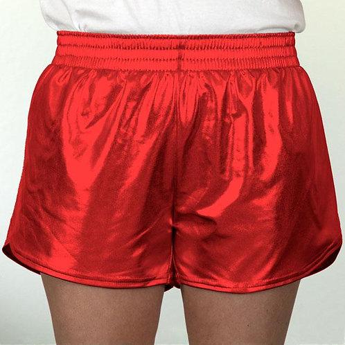 Adult Red Metallic Summer Shorts