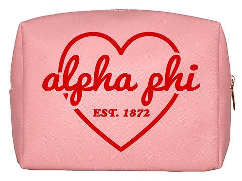 Alpha Phi Sweetheart Makeup Bag
