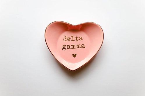 Delta Gamma Heart Ring Dish