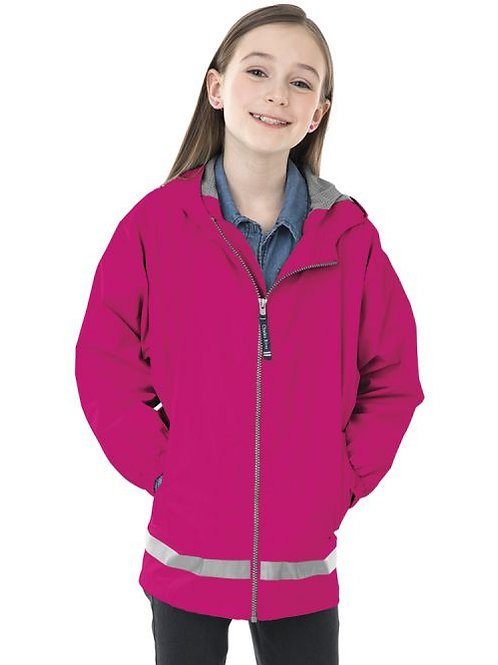 Youth Blank Full Zip Rain Jacket