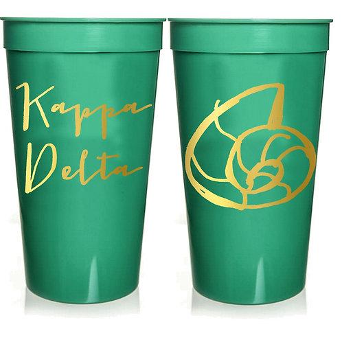 Kappa Delta Plastic Tumbler
