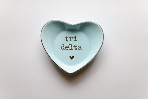 Delta Delta Delta Heart Ring Dish