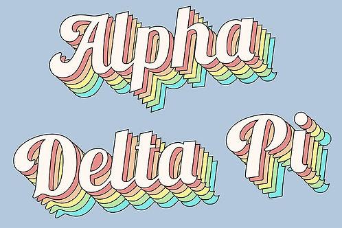Alpha Delta Pi Retro Flag