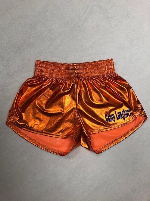 Camp Longhorn Orange Metallic Shorts