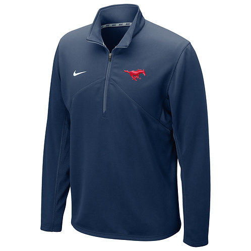 SMU Nike Men's Dri-Fit Quarter-Zip Jacket - Navy