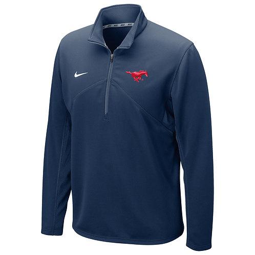 SMU Nike Dri Fit Men's Quarter-Zip - Navy Blue