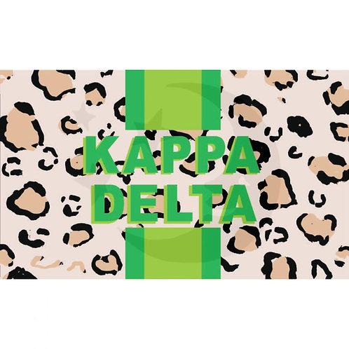 Kappa Delta Leopard Flag