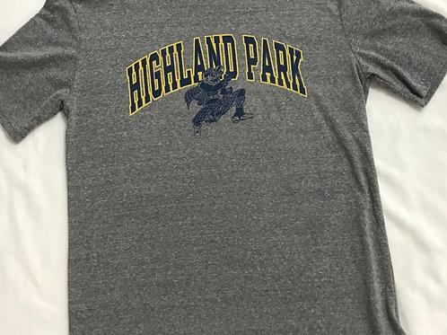 Highland Park Adult Grey Short Sleeve Shirt