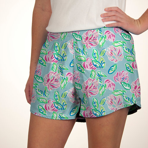 Pink Peony Summer Shorts