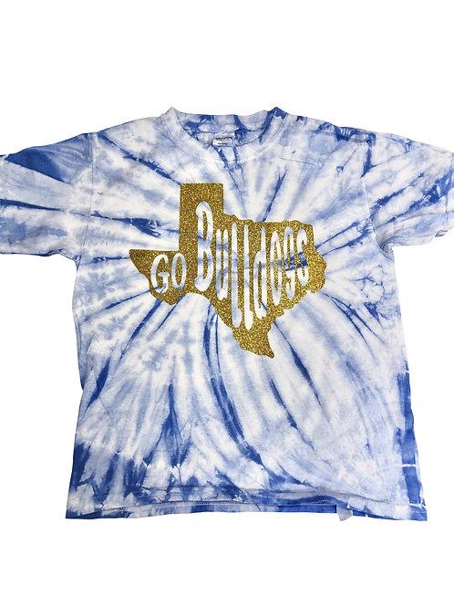 Go Bulldogs Blue Tie Dye Tee