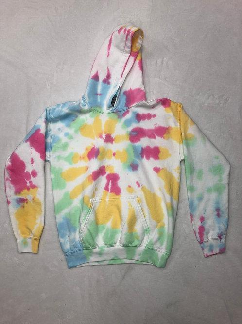 Youth Plain Tie Dye Hoodie