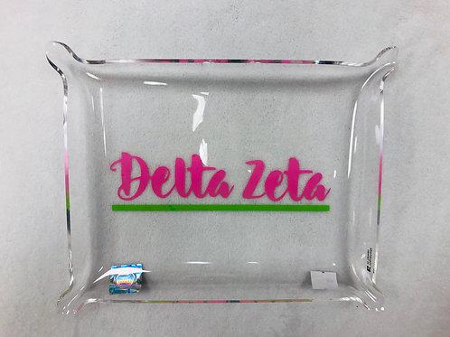 Delta Zeta Acrylic Pinch Tray
