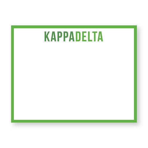 Kappa Delta Note Cards