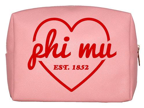 Phi Mu Sweetheart Makeup Bag
