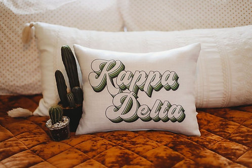 Kappa Delta Retro Pillow