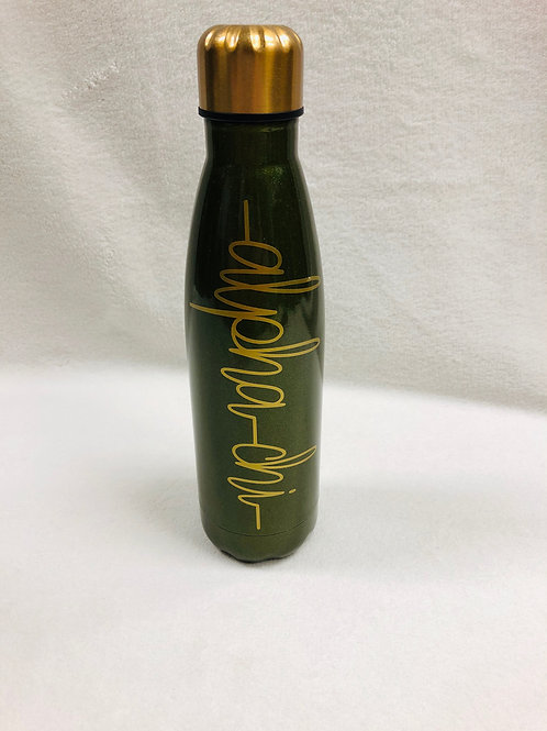 Alpha Chi Omega Stainless Steel Water Bottle