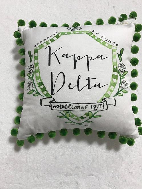 Kappa Delta Pom Pom Pillow