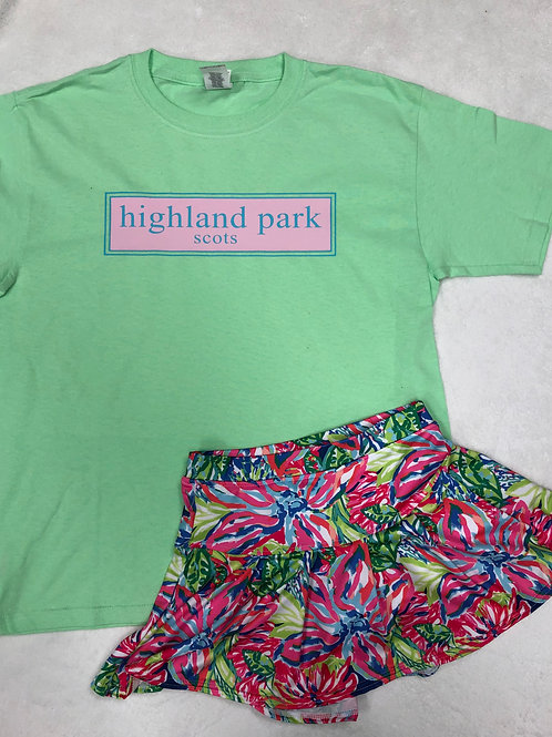 Highland Park Mint Prep Design Tee
