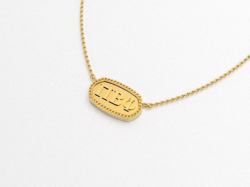 Pi Beta Phi Gold Necklace