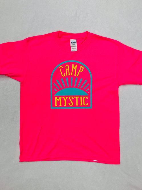 Camp Mystic Neon Pink Sunrise Shirt