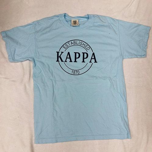 Kappa Kappa Gamma Comfort Colors Established Short Sleeve Tee