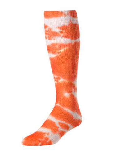 Orange Tie Dye Knee-High Socks