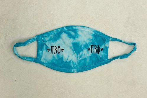 Pi Beta Phi Tie Dye Face Mask