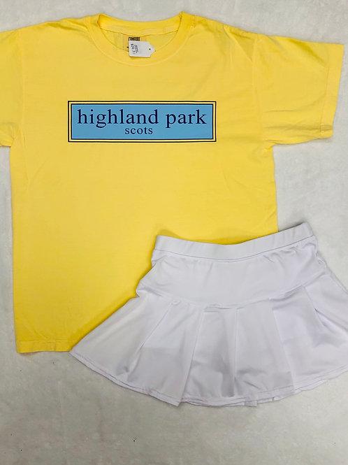 Highland Park Pastel Yellow Prep Design Tee