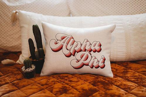 Alpha Phi Retro Pillow