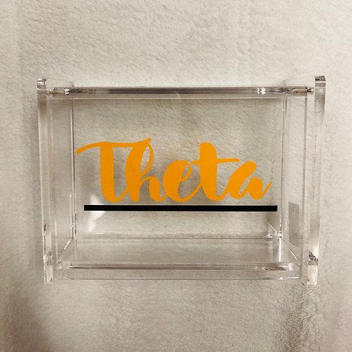 Kappa Alpha Theta Script Acrylic Box
