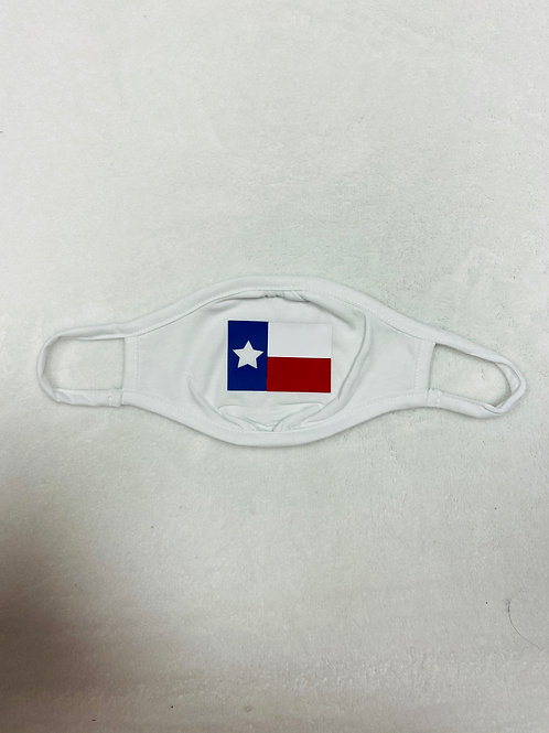 Texas Flag Youth White Face Mask