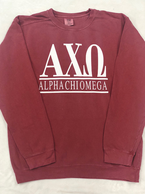 Alpha Chi Omega Comfort Colors Sweatshirt