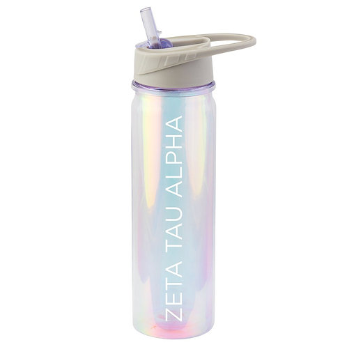 Zeta Tau Alpha Iridescent Water Bottle