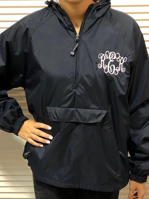 Adult Monogrammed 1/4 Zip Rain Jacket