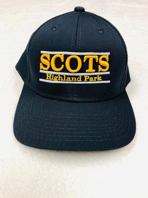 Highland Park Scots Bar Design Navy Baseball Hats