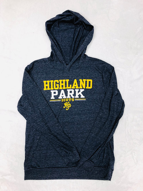 Youth Navy Lightweight Hooded Tee