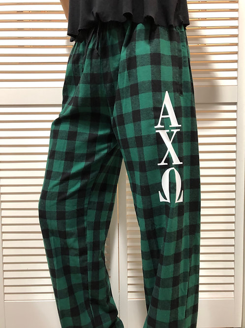 Alpha Chi Omega Buffalo Plaid Flannel PJ Pants