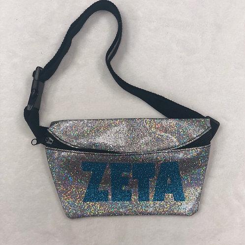 Zeta Tau Alpha Glitter Fanny Pack