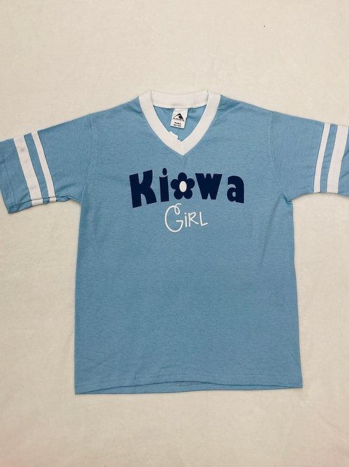 Kiowa Girl Light Blue Shirt (Camp Mystic)