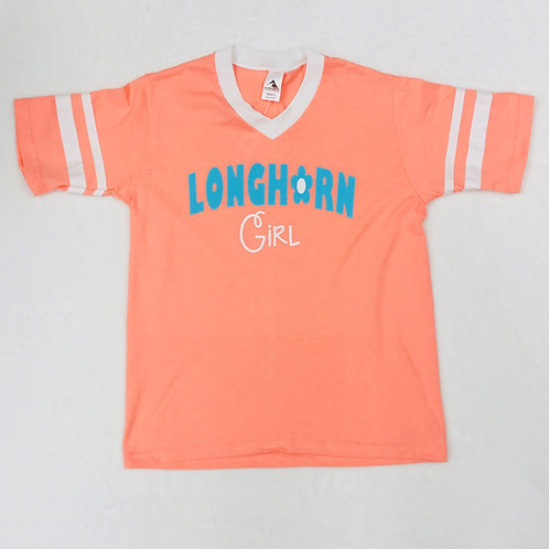 Longhorn Orange Girl Shirt