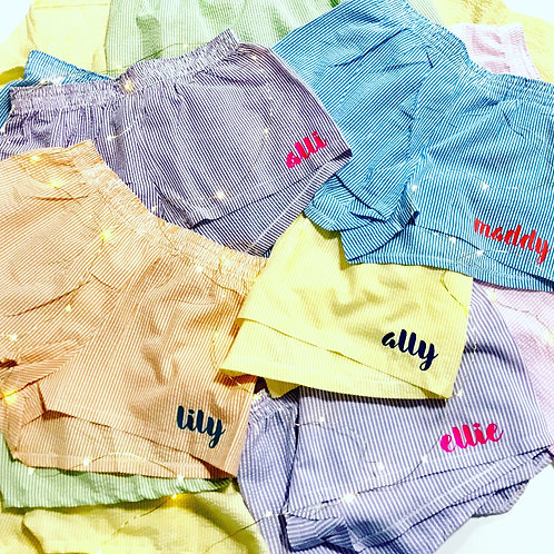 Personalized Seersucker PJ Shorts