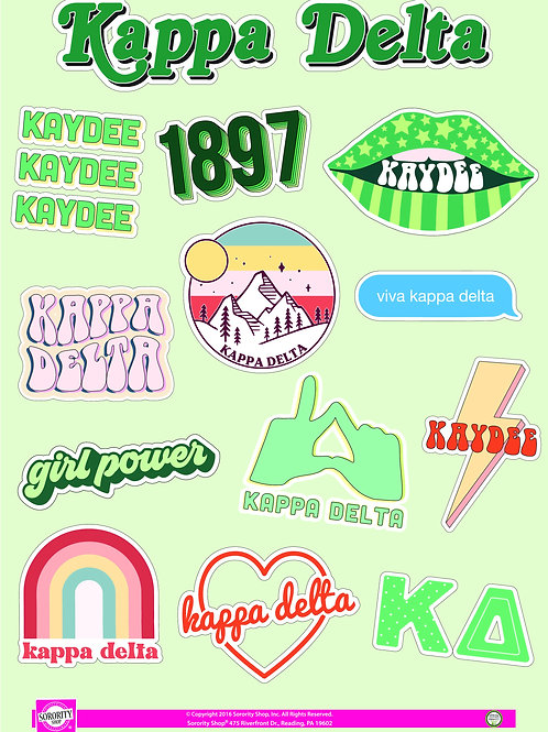 Kappa Delta Girl Power Power Sticker Sheet